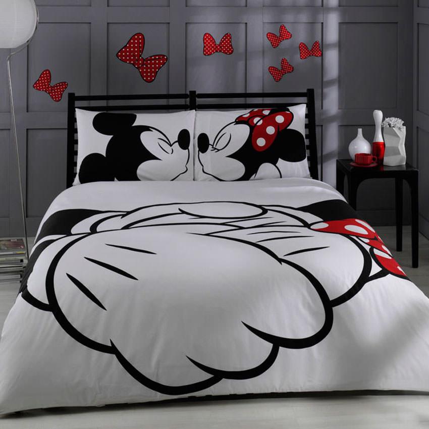 Obliečky TAC Mickey s plachtou,200x220cm