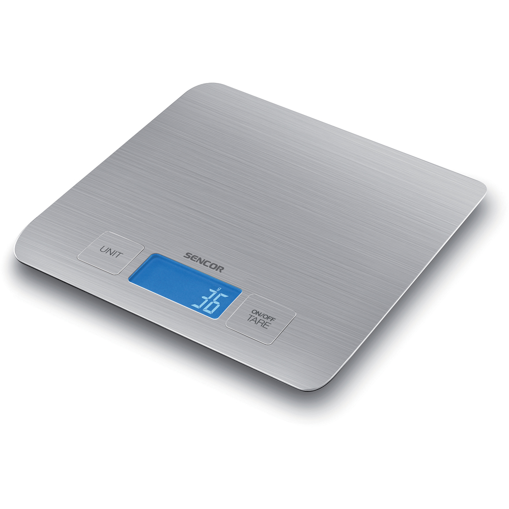 Kuchynská váha SKS 5400 Sencor strieborná do 5 kg