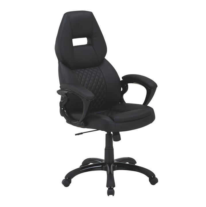 Kancelárske kreslo, ekokoža čierna, HEVYR