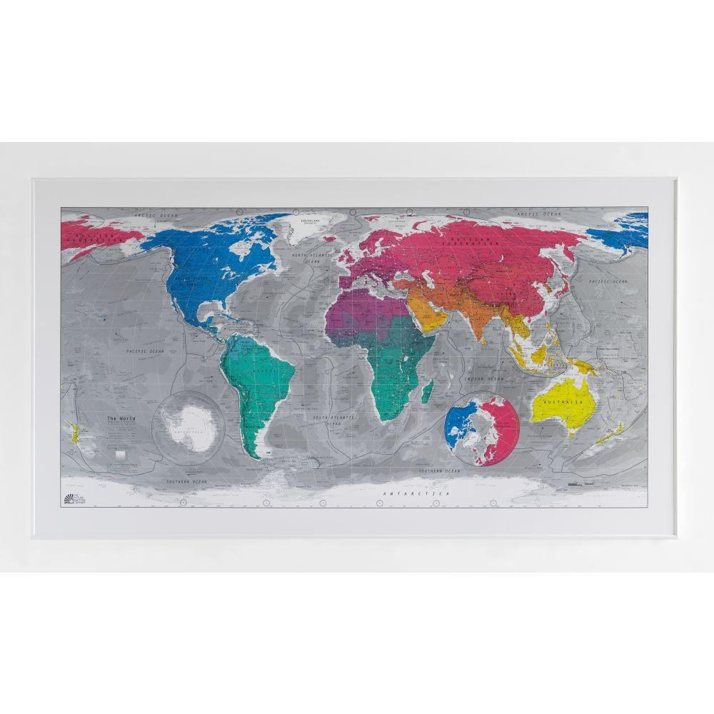 Magnetická mapa sveta Colourful World, 130x72cm