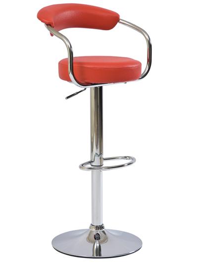 >> KROKUS C-231 barová stolička, červená