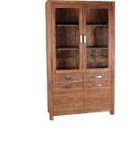 Furniture nábytok  Masívna knižnica / vitrína z Palisanderu Kámbachš  115x445x200 cm