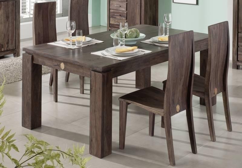 BIG METRO POLIS #154 Sheesham jedálenský stôl 160x100 , masívne palisandrové drevo