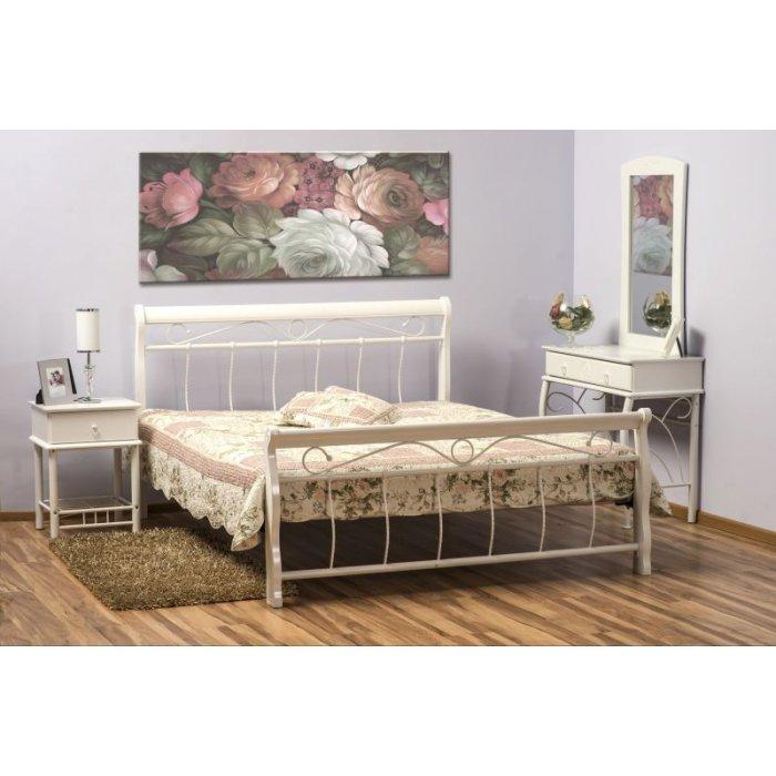 SIGNAL VENECJA 160 posteľ s roštom - biela