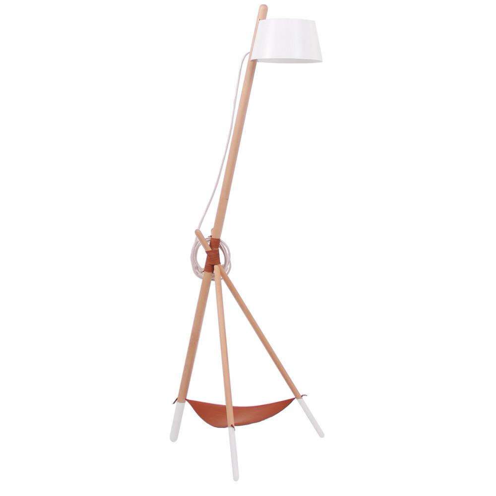 Biela voľne stojacia lampa s odkladacím priestorom Woodendot Ka Medium