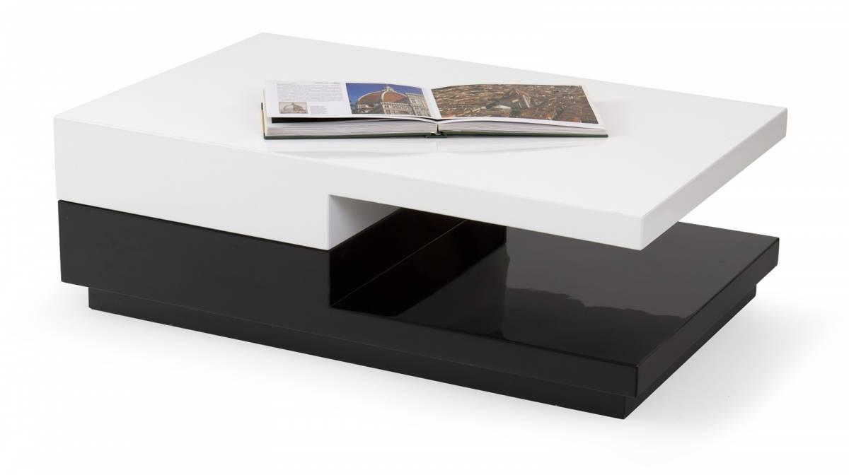 Konferenčný stolík Montana biela + čierna