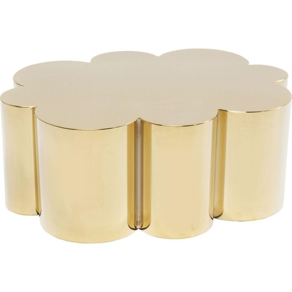 Odkladací stolík v zlatej farbe Kare Design Gold Rush