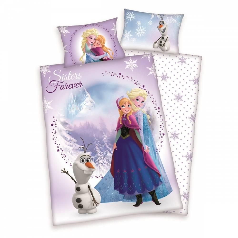 Herding Detské bavlnené obliečky do postieľky Frozen Sister Forever, 100 x 135 cm, 40 x 60 cm