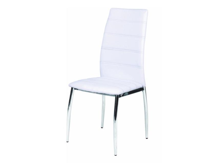 Jedálenská stolička Dela (biela + chróm)