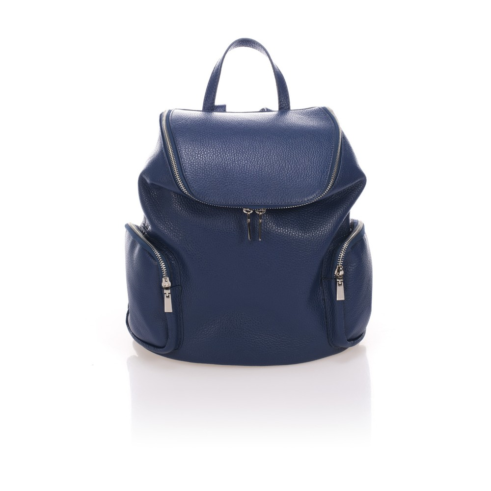 Modrý kožený batoh Lisa Minardi Mardi