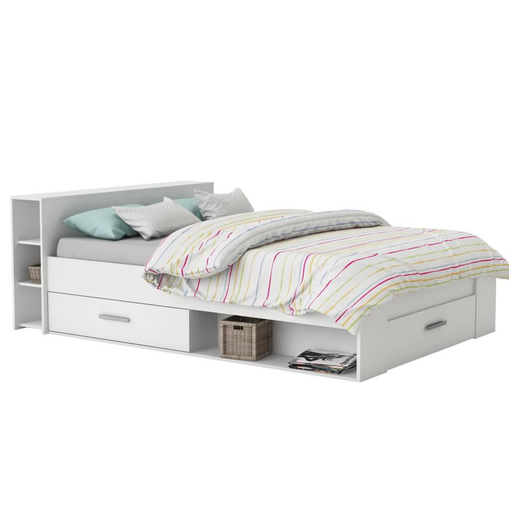 Multifunkčná posteľ POCKET 140x200 159574 biela
