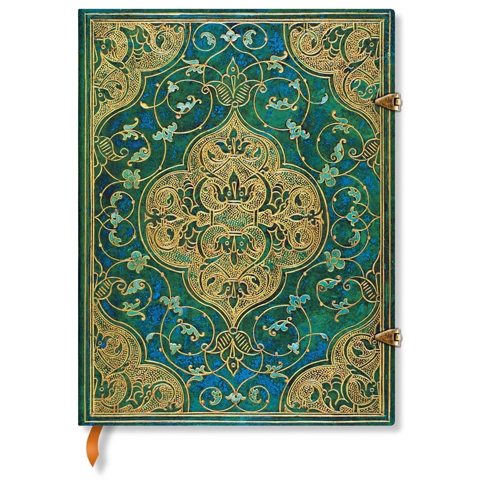 Linkovaný zápisník s tvrdou väzbou Paperblanks Turquoise Chronicles, 18 x 23 cm