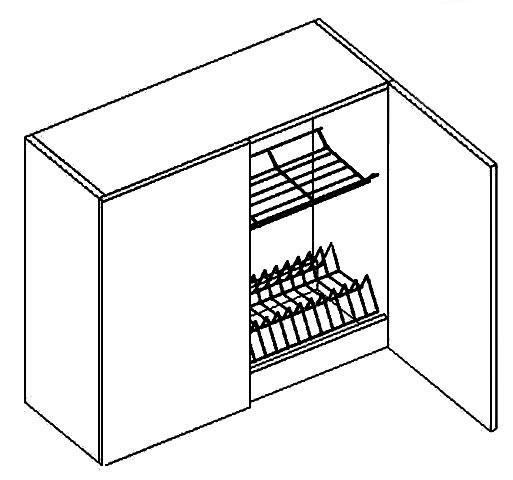 BIANCA horná skrinka s odkvapkávačom W80SU