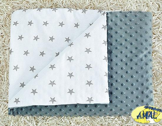 AMAL Deka MINKY sivá, Hviezdičky, 75x100 cm