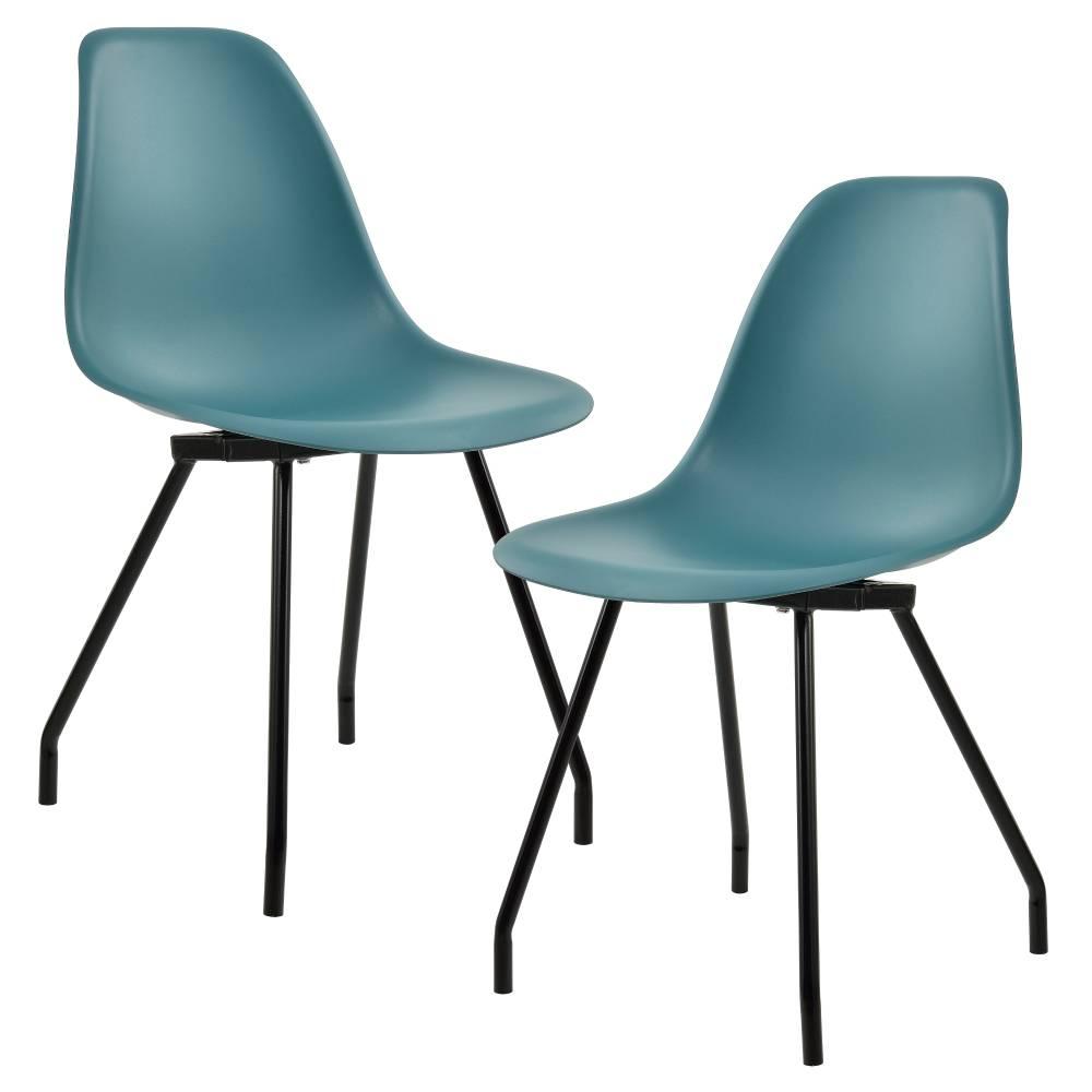b72b646175f7  en.casa ® Sada dizajnových stoličiek - 2 kusy - tyrkysové