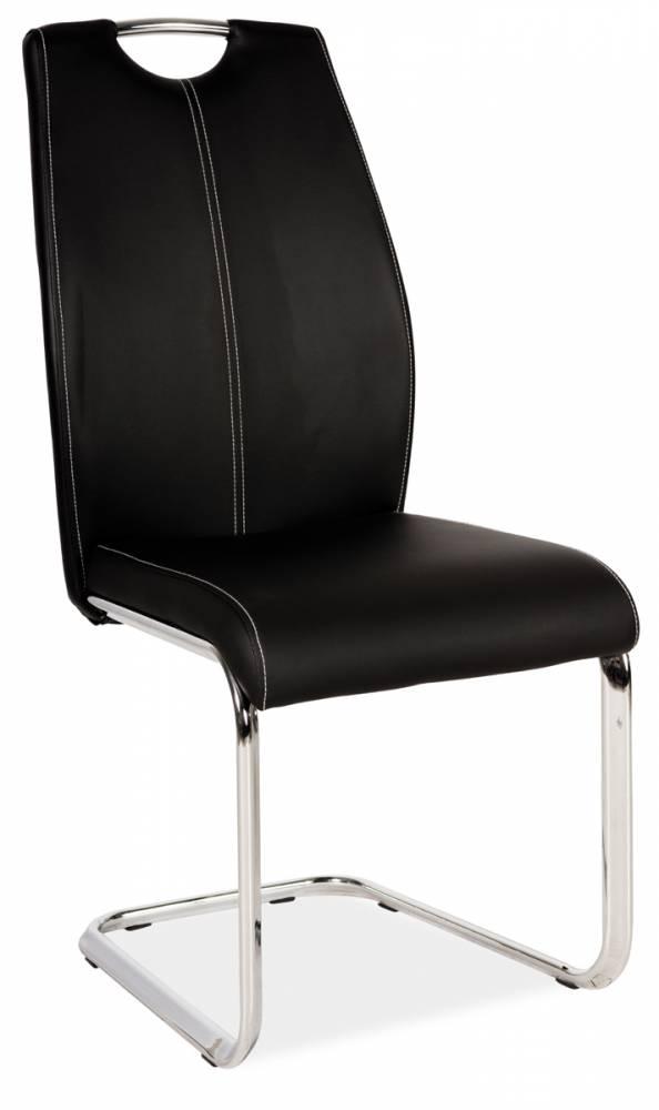 Jedálenská stolička HK-664, čierna
