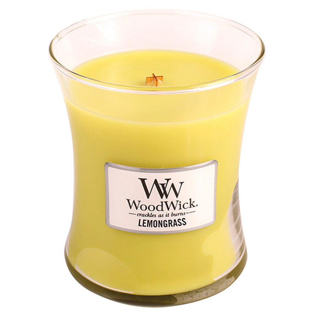 Vonná sviečka WoodWick Citrónová tráva, 60 hodín