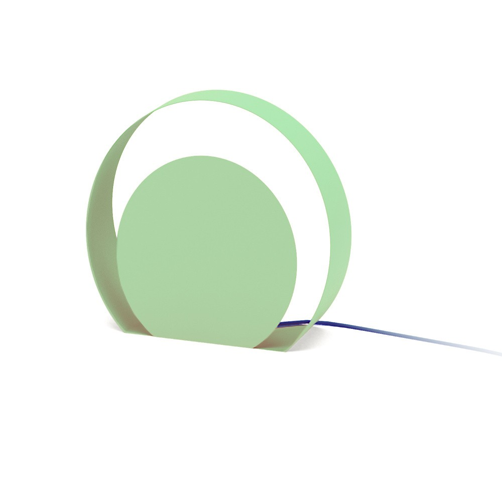 Zelená stojacia lampa MEME Design Chiocciola, Ø39cm