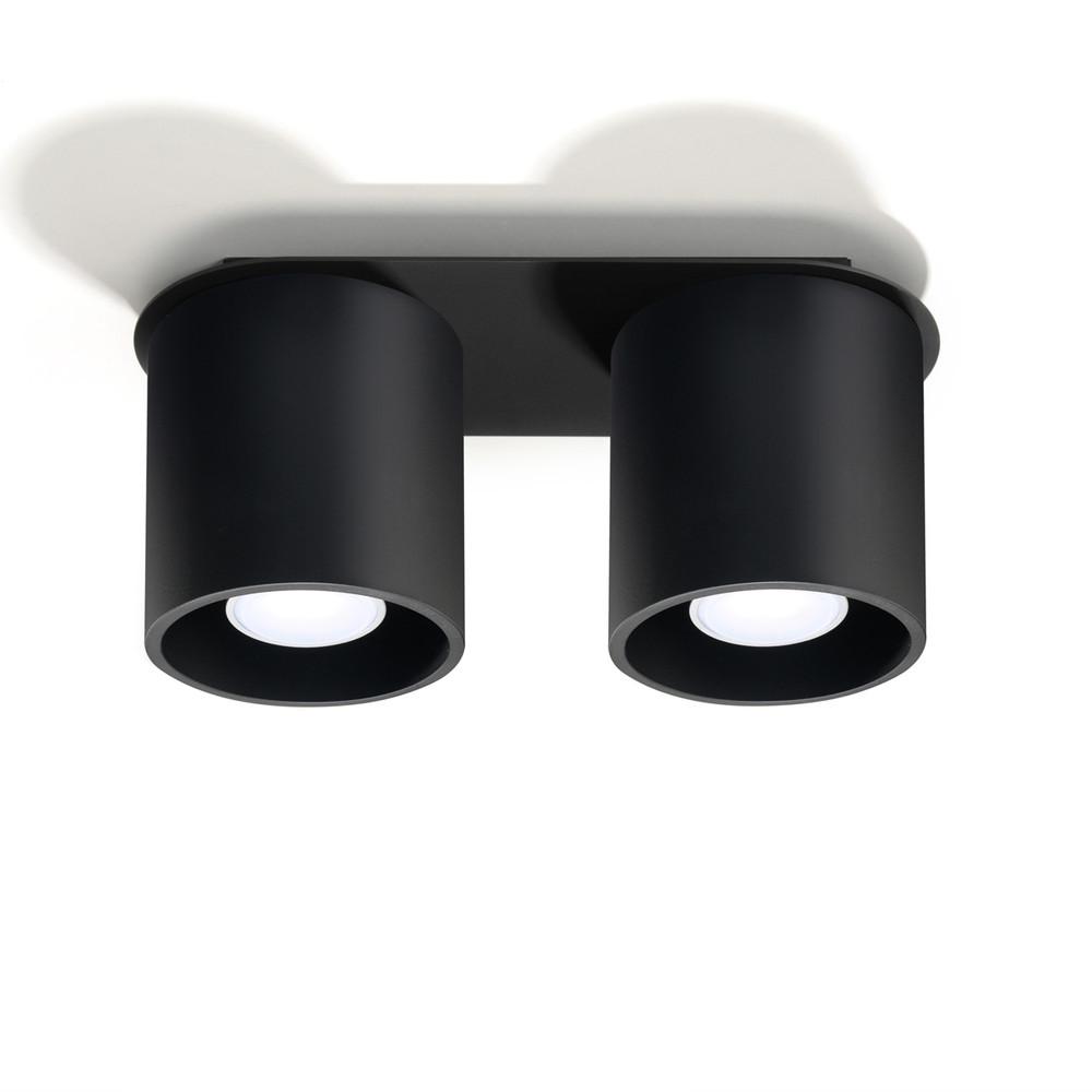 Čierne stropné svetlo Nice Lamps Roda 2