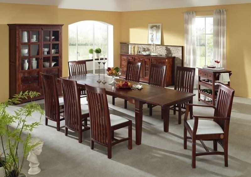 SUNO OXFORD #121 Kolonialer jedálenský stôl 180-260x90 masívny agátový nábytok