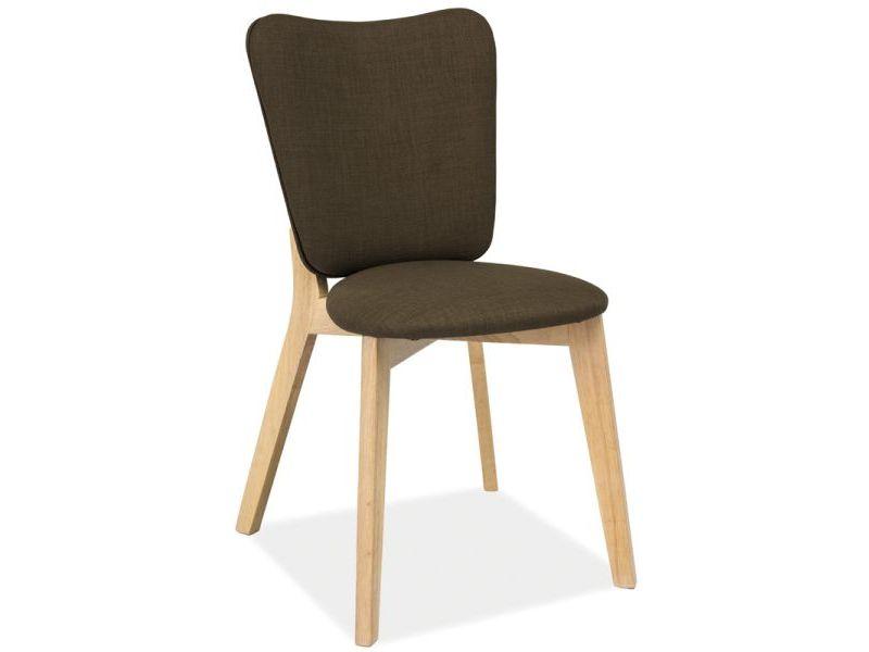 Jedálenská stolička Montana (biely dub + khaki)