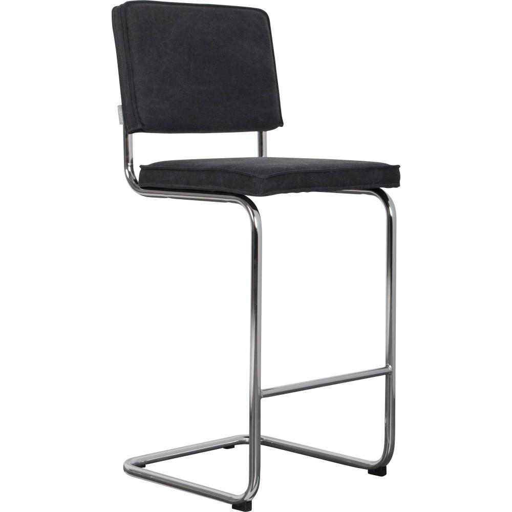 Antracitovosivá barová stolička Zuiver Ridge Rib