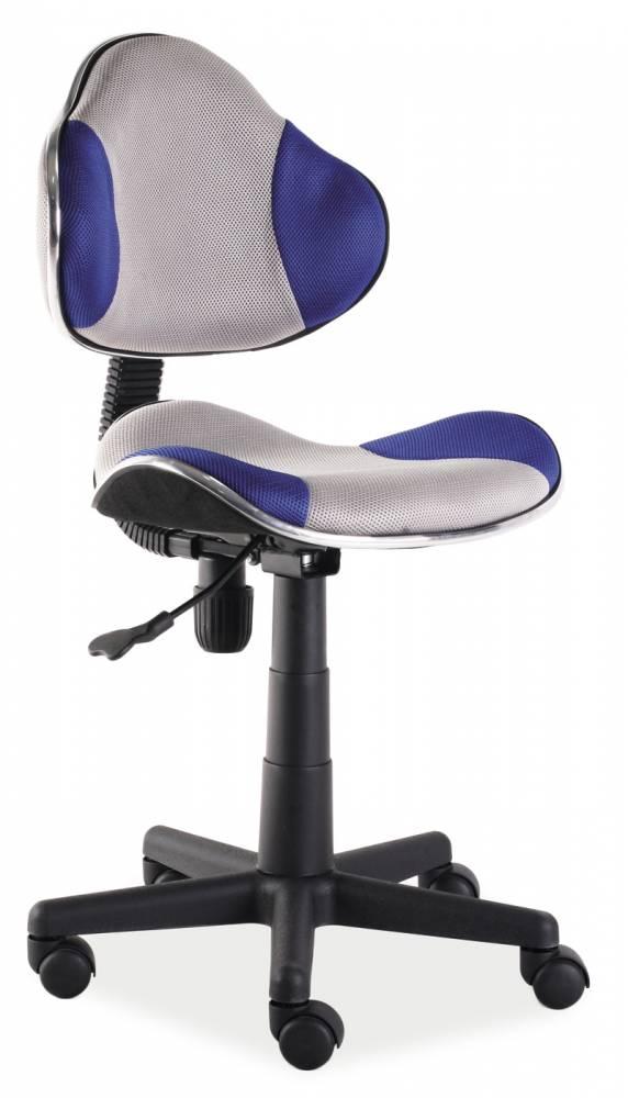 Kancelárske kreslo Q-G2 (modrá + sivá)