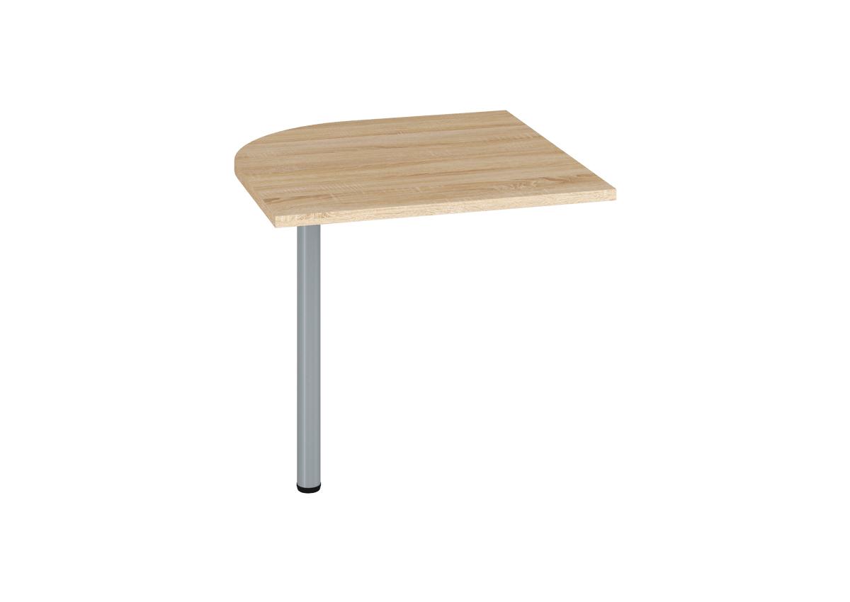 Prídavný kancelársky stôl OPTIMAL 20 / sonoma svetlá