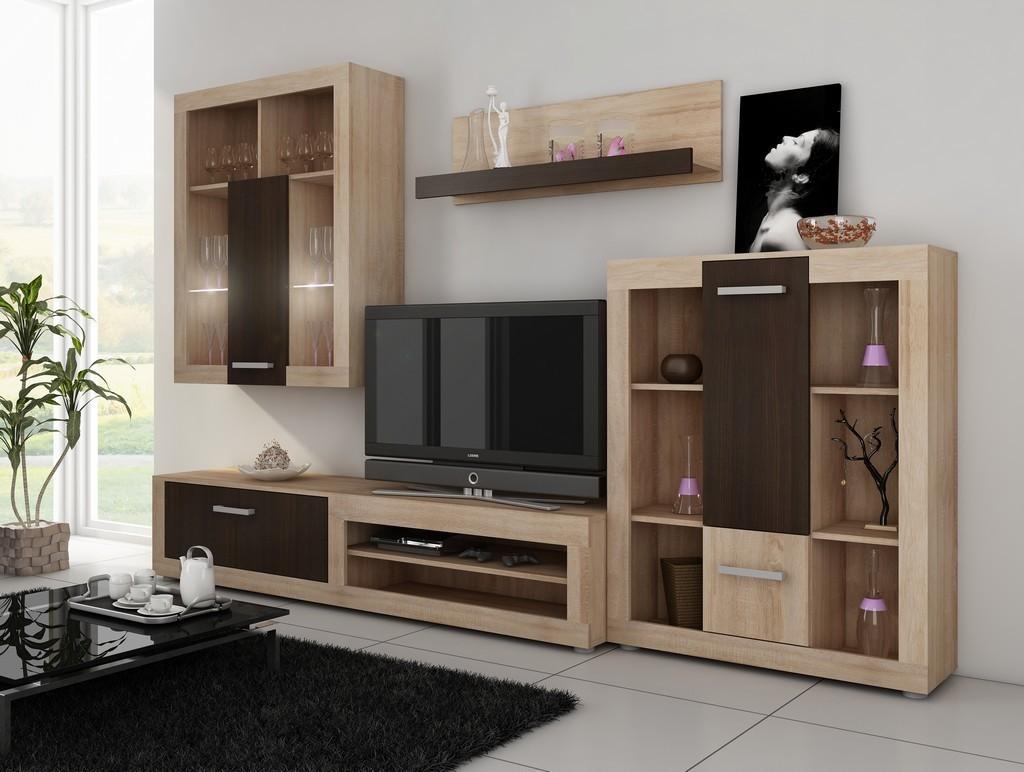 WIP VIKI obývacia stena - sonoma svetlá / sonoma tmavá