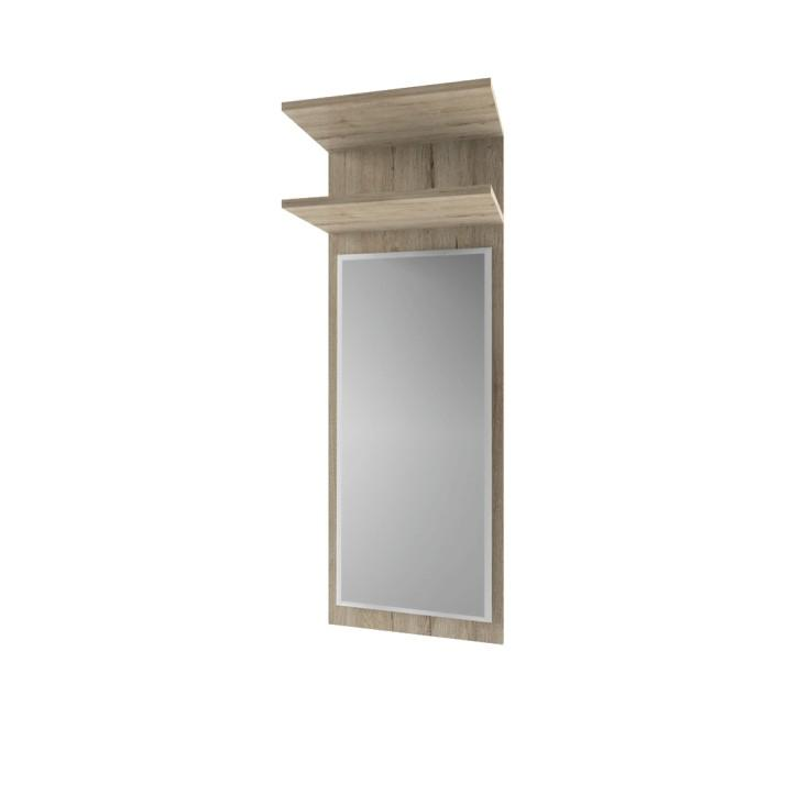 TEMPO KONDELA Panel so zrkadlom 40, dub san remo, ORESTES