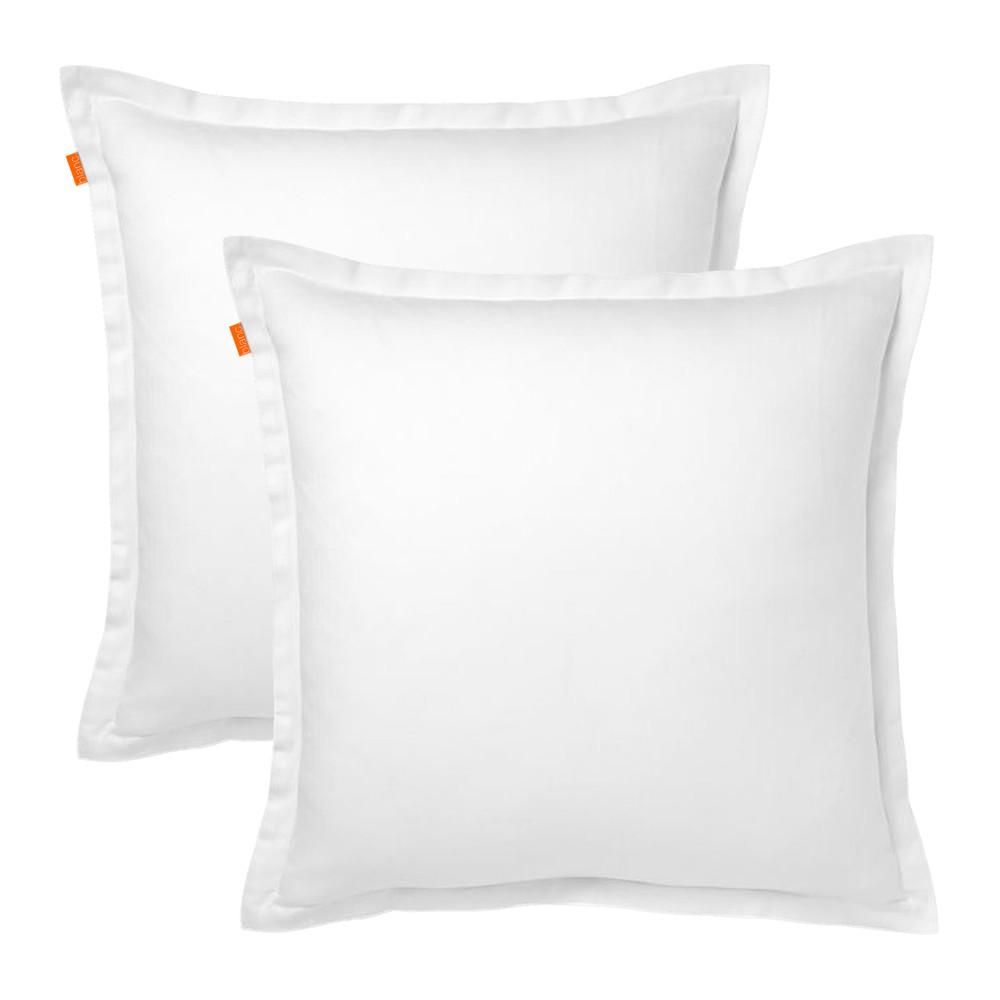 Sada 2 bielych obliečok na vankúš HF Living Basic, 60 x 60 cm