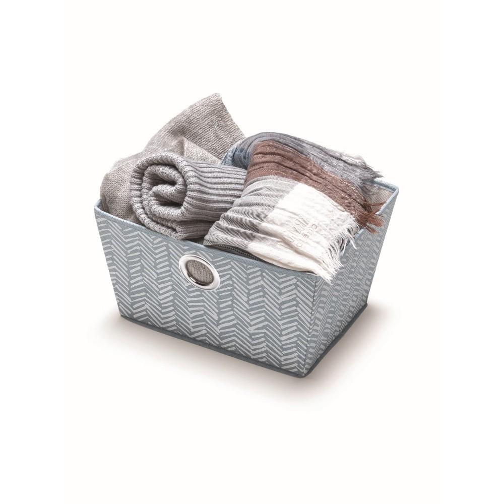 Modrý úložný košík Cosatto Tweed, šírka 33 cm