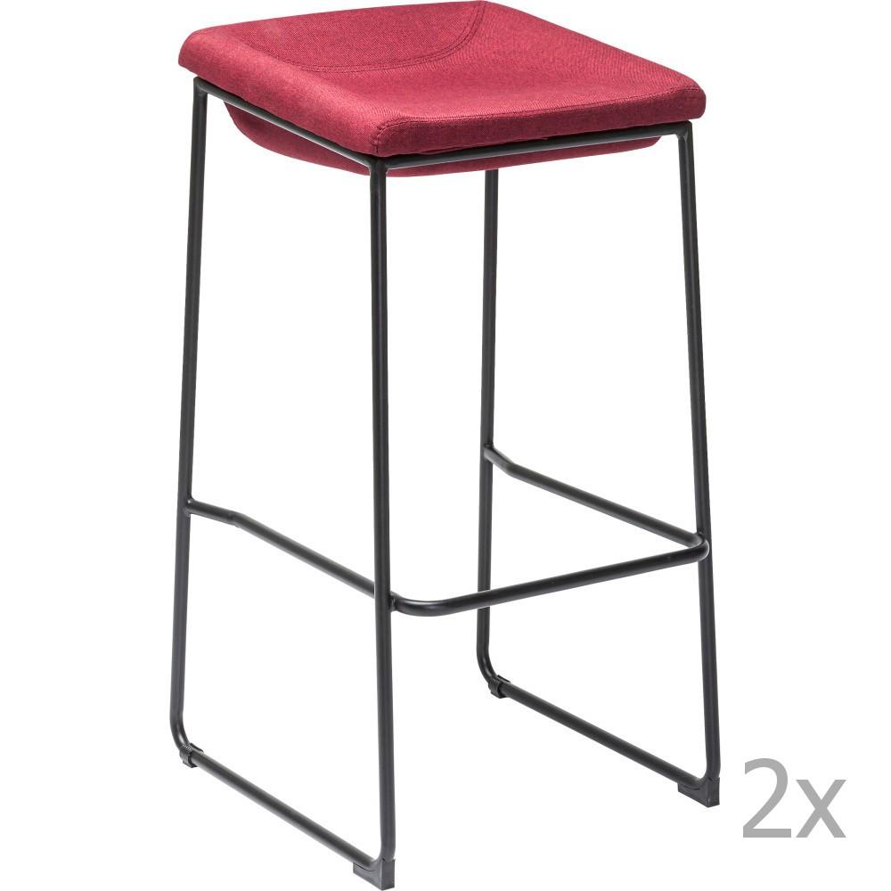 Sada 2 červených barových stoličiek Kare Design Shape