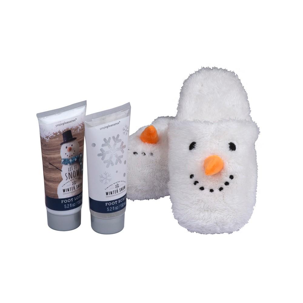 Sada papúč a kúpeľové kozmetiky Tri-Coastal Design Snowman