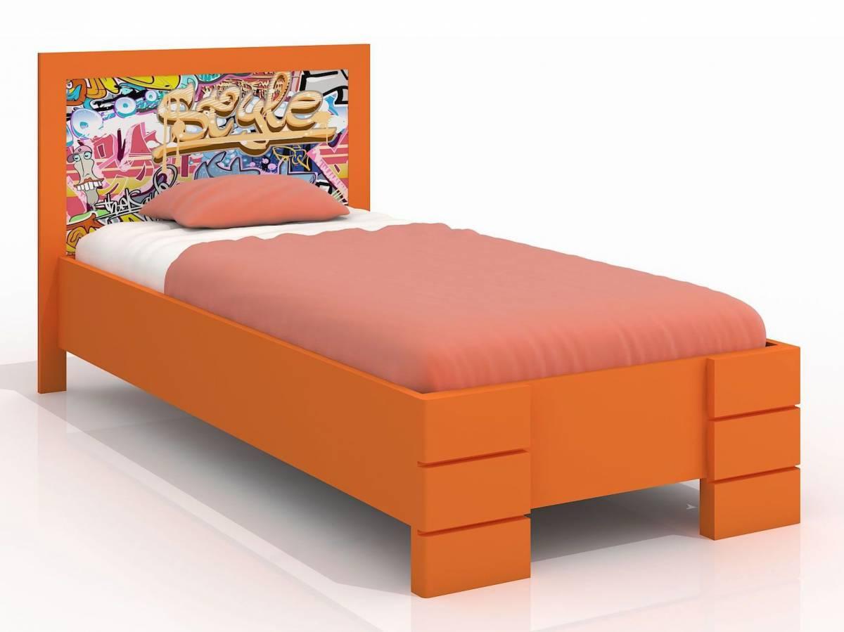 Jednolôžková posteľ 90 cm Naturlig Kids Storhamar High (borovica) (s roštom)