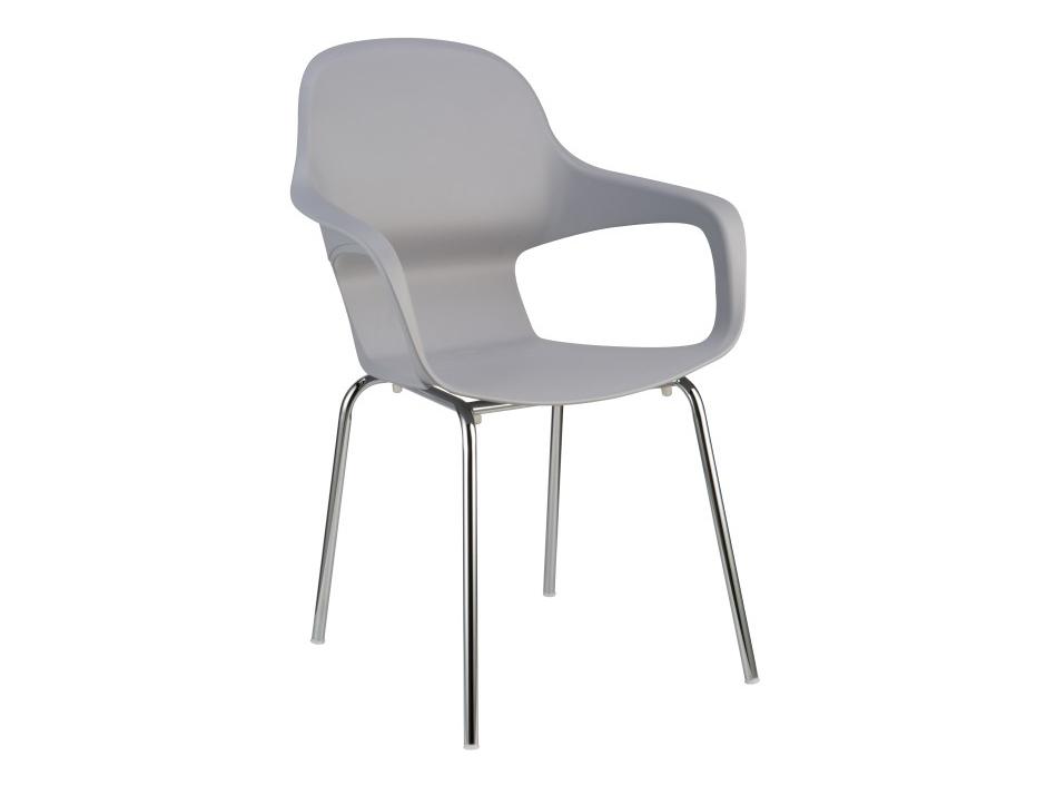 Jedálenská stolička Dorien (sivá + chróm)
