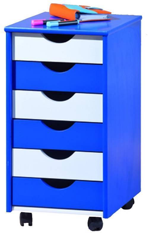 Beppo - kontajner modro / biely