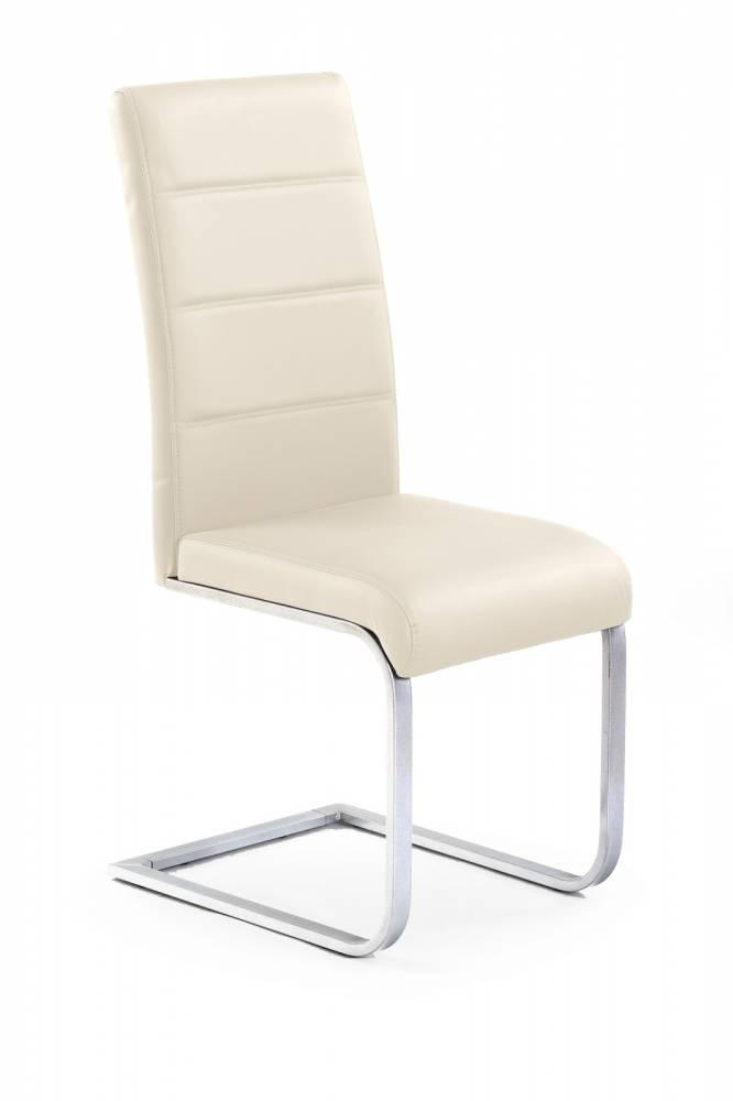 Jedálenská stolička K85 tmavokrémová
