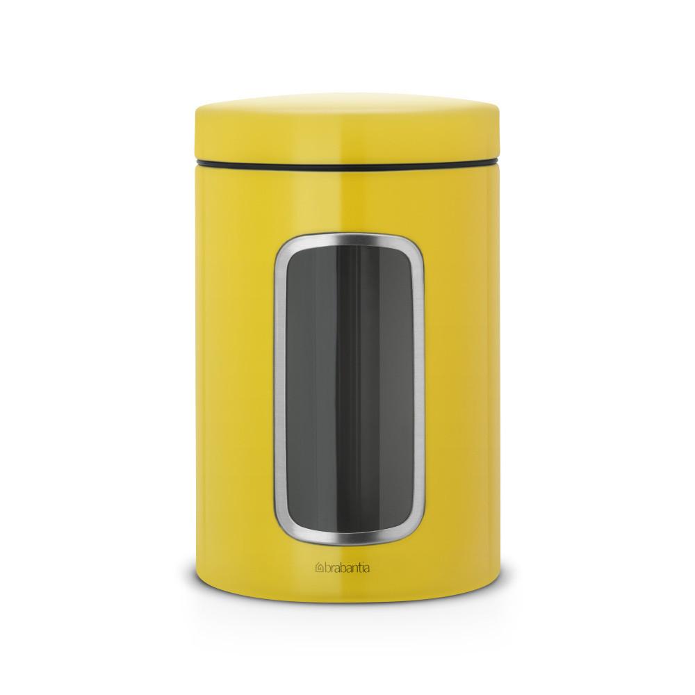 Žltá dóza s okienkom Brabantia, 1,4 l
