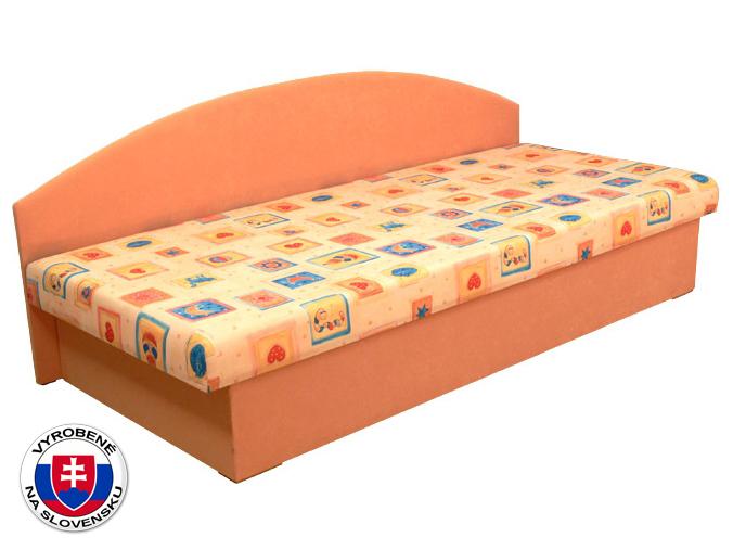 Jednolôžková posteľ (váľanda) 80 cm Edo 3 (s pružinovým matracom)