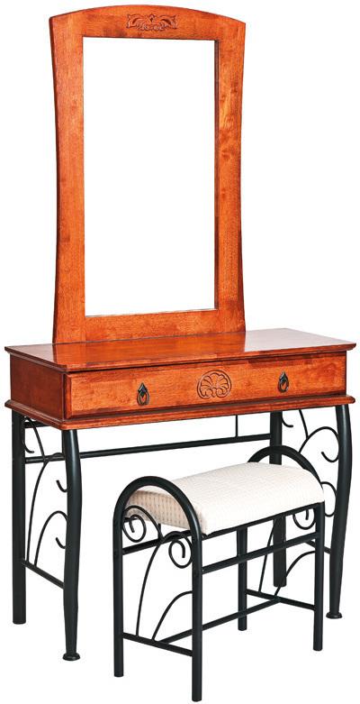 SIGNAL 1102 toaletný stolík - čerešna antická / čierna