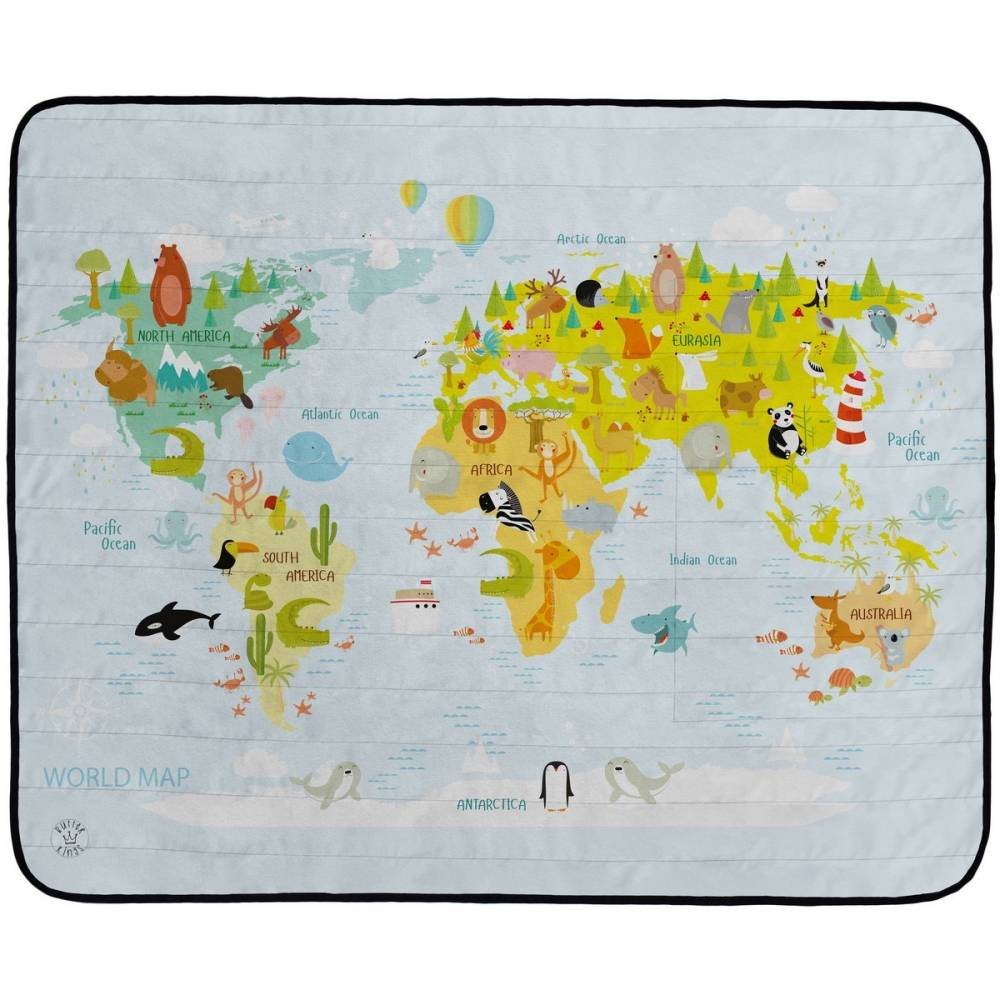 Butter Kings Kempingová deka World map, 145 x 180 cm