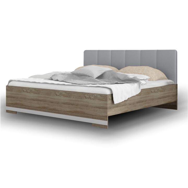 TEMPO KONDELA MADISON NEW 160 manželská posteľ - dub sonoma truflový / sivá