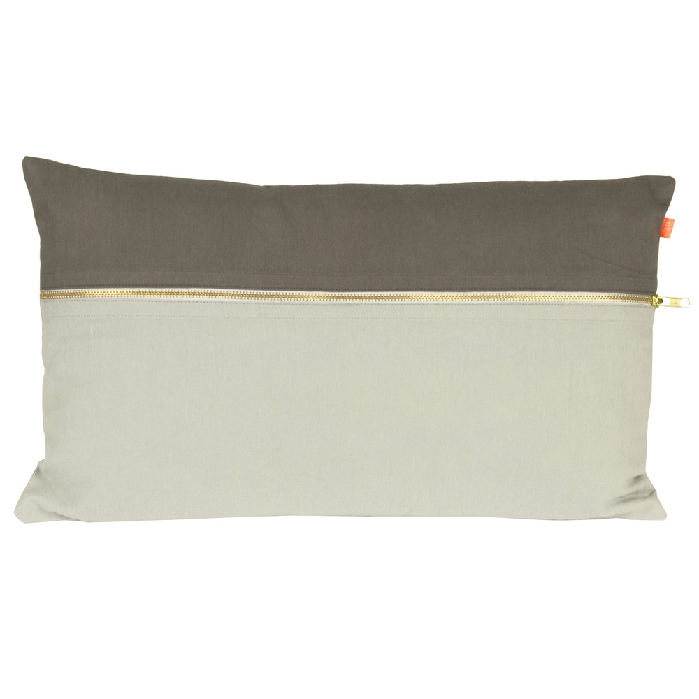 Vankúš Present Time Duo Tone Grey, 50x30 cm
