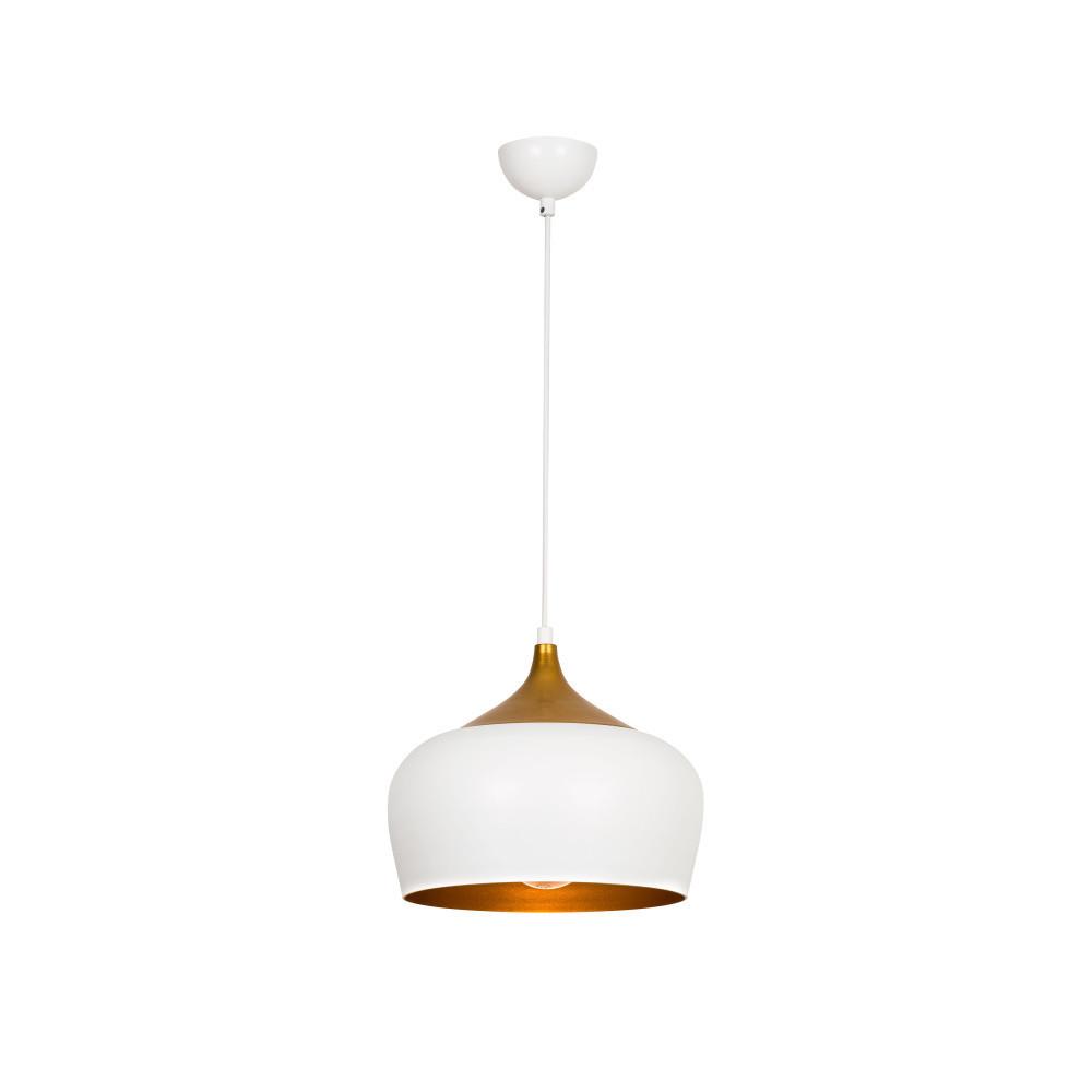 Zlato-biele stropné svietidlo Ythan
