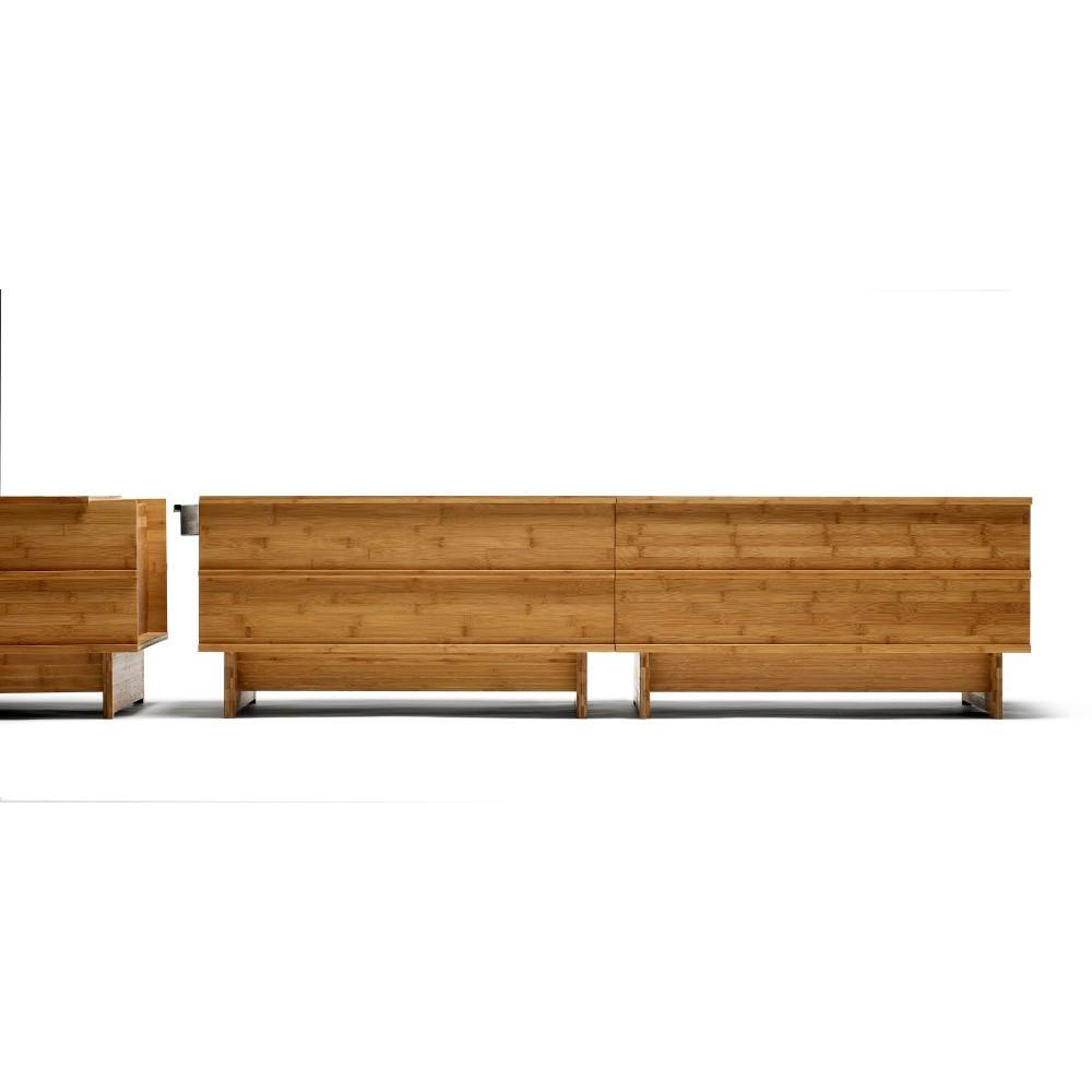 Oceľový spájací diel k bambusovej lavici We Do Wood Correlations