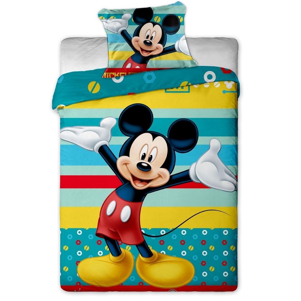 Jerry Fabrics Detské bavlnené obliečky Mickey tyrkys 140x200 70x90