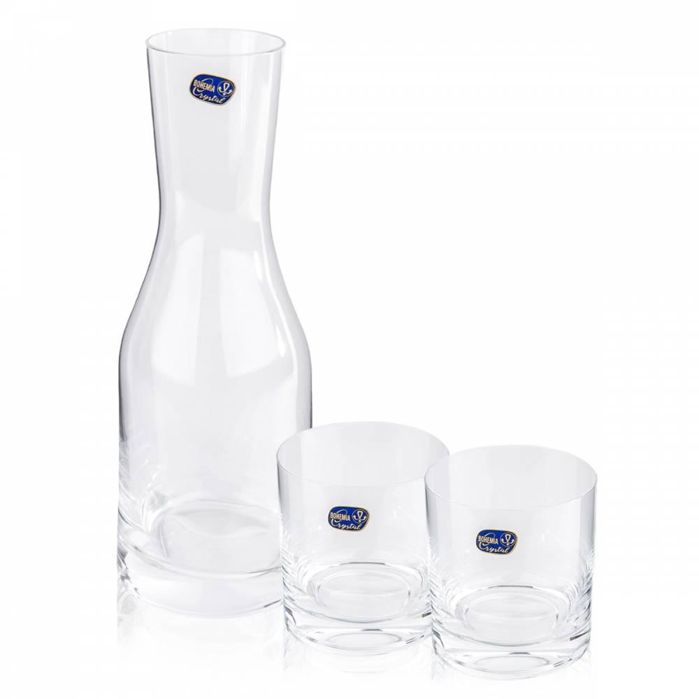 Bohemia Crystal Sada 2 pohárov a karafy Wellness, 850 ml