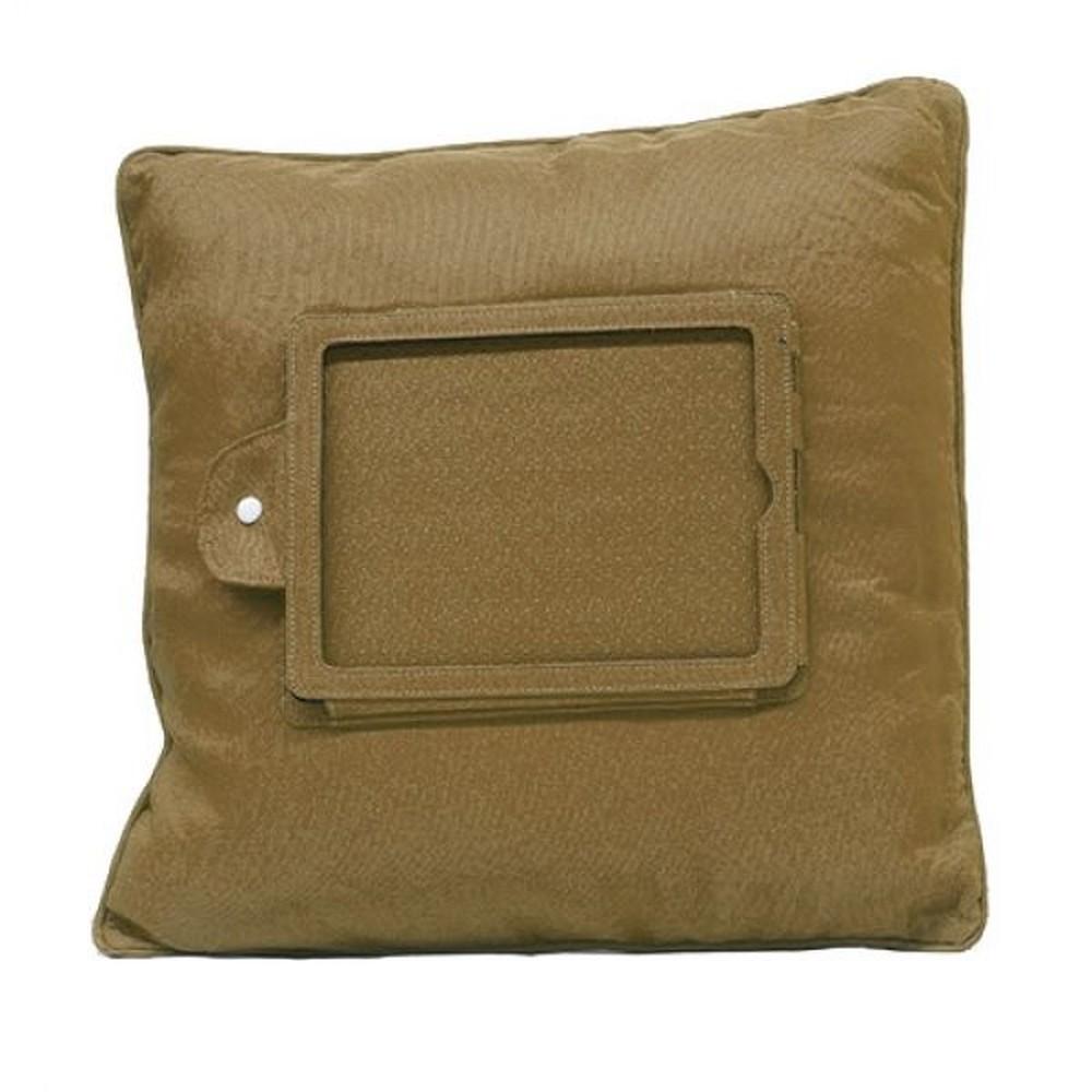 Hnedý vankúš s držiakom na iPad InnovaGoods