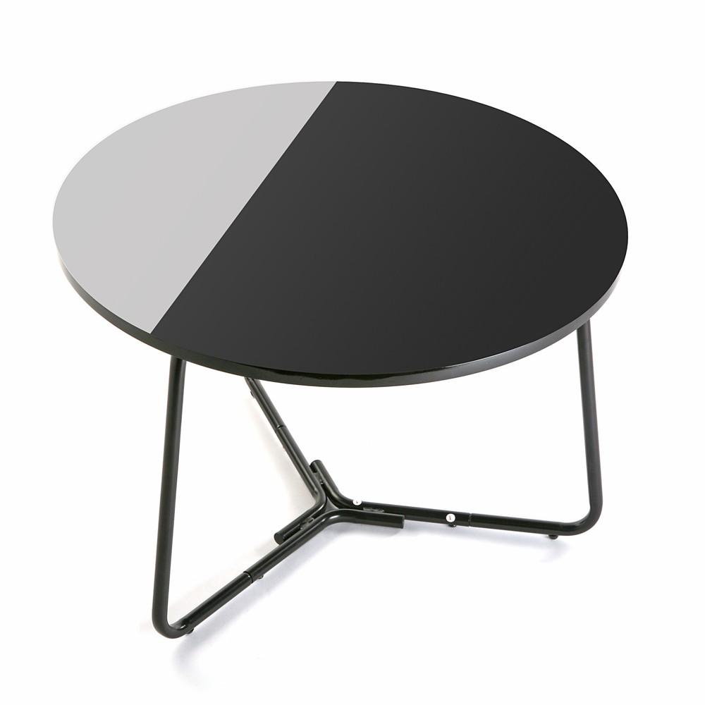 Čierno-biely guľatý stôl Versa Dayton, ø 60 cm